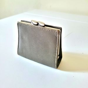Danier Leather Small Coin Pouch in Moss Green